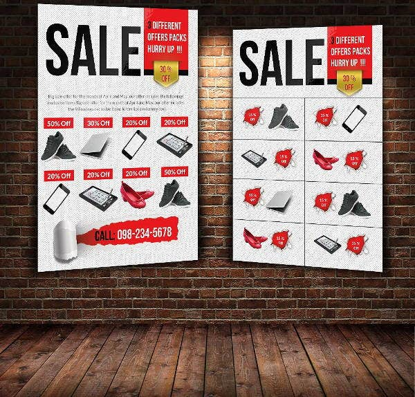 big sale offer double sided flyer