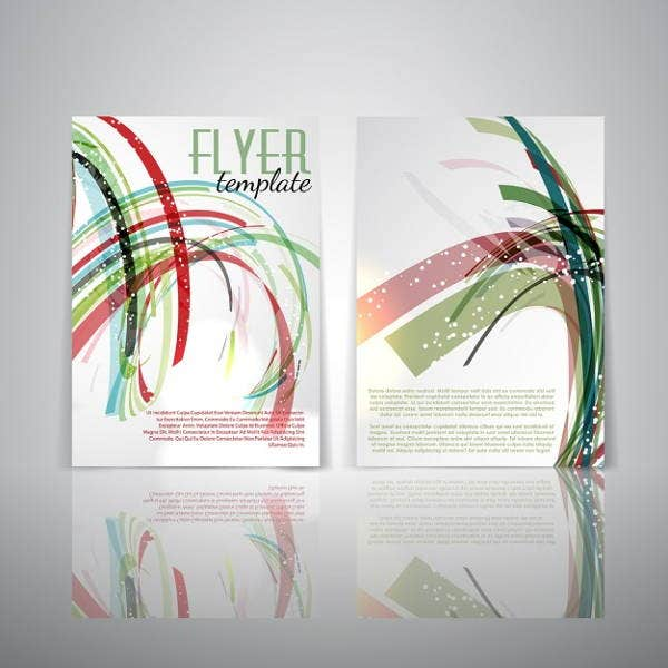 Abstract Double Sided Flyer