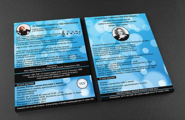 11 double sided flyer templates free premium templates for Double sided brochure template