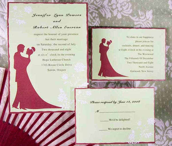 -Wedding Reception Dance Invitation