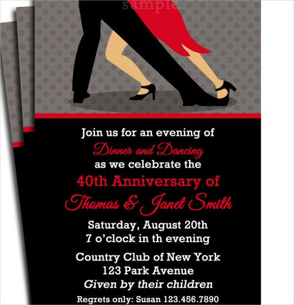 -Wedding Dance Party Invitation