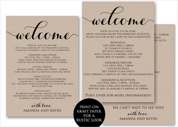 -Diy Wedding Welcome Invitation