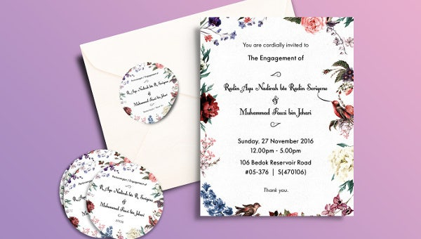 50 Printable Engagement Invitation Templates Psd Ai Free