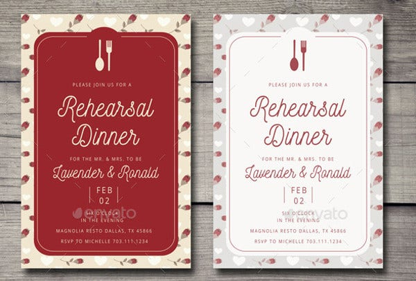 -Wedding Welcome Dinner Invitation