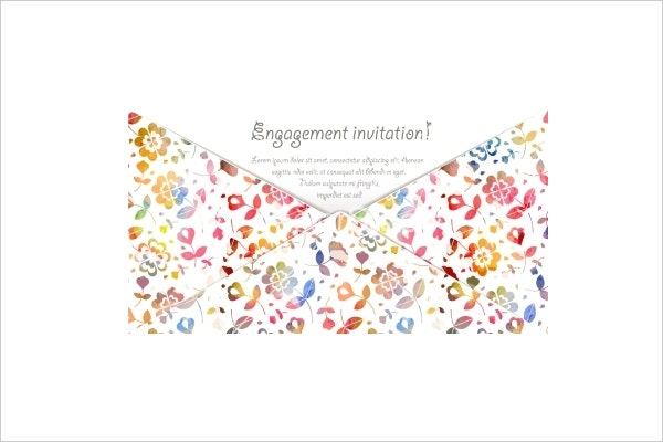 engagement invitation card vector1