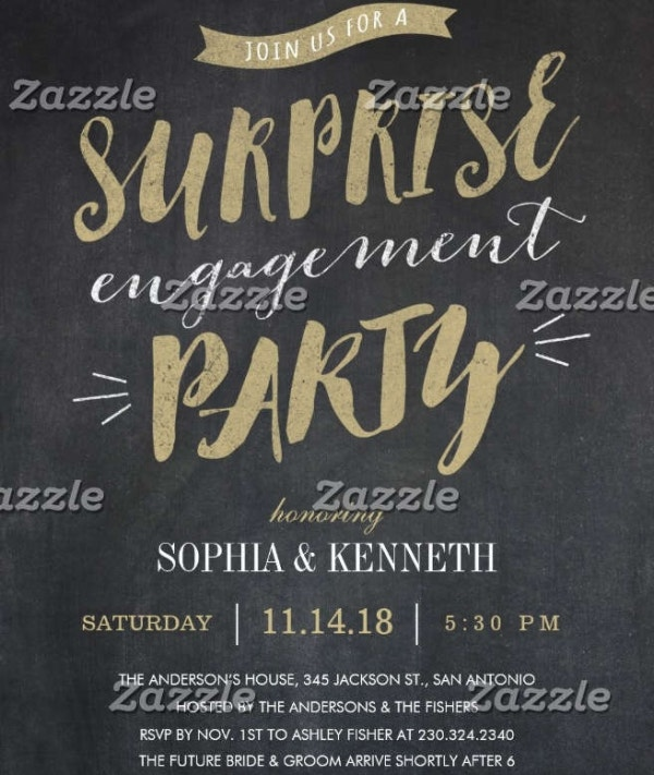 -Surprise Wedding Engagement Invitation
