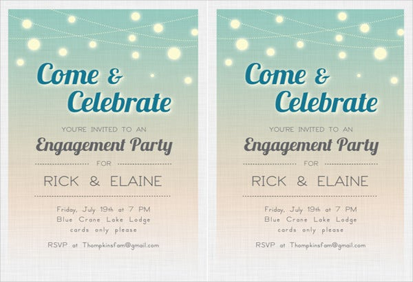 39+ engagement invitation designs | free & premium templates, Party invitations