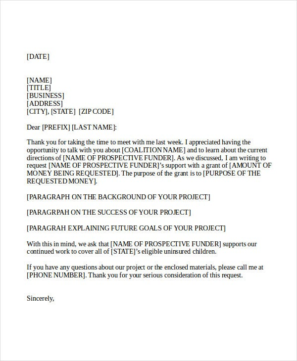 formal proposal cover letter
