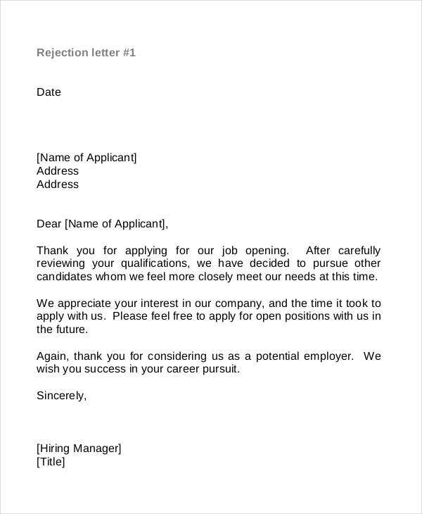 Unsuccessful job application letter template cover letter contoh uwzmard bailbonds la thank you expocarfo Image collections