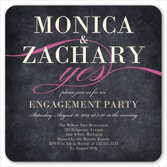 chalkboard engagement party invitation2