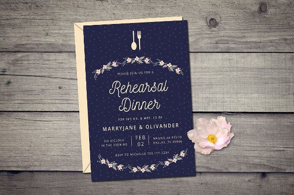 -Wedding Rehearsal Dinner Invitation