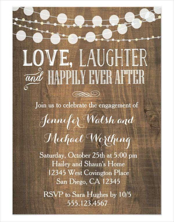 rustic engagement party invitation3