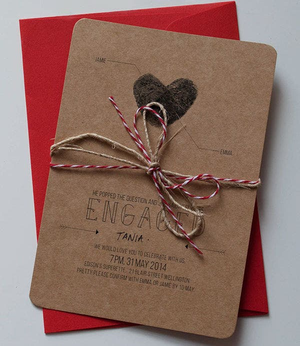 free rustic engagement invitation1