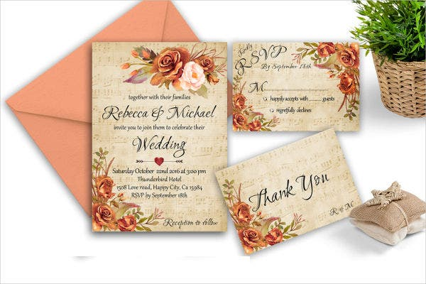 -Homemade Autumn Wedding Invitation