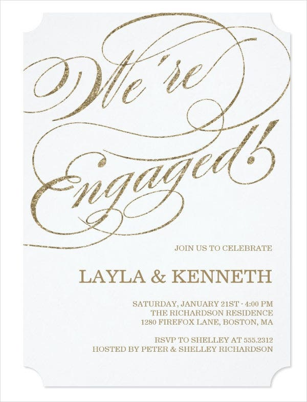 39 Engagement Invitation Designs – Engagement Party Template