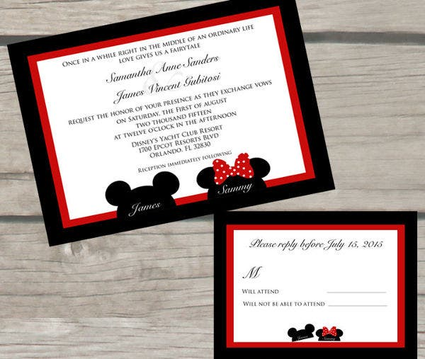 -Disney Fairytale Wedding Invitation