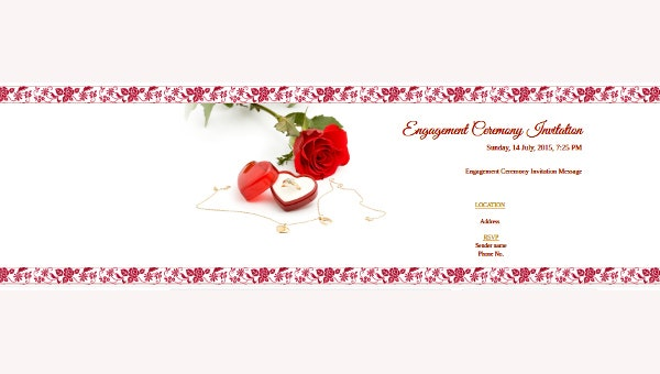 blank engagement invitation card