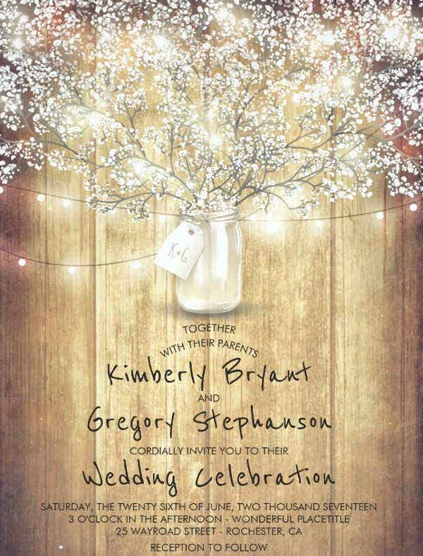 -Woodland Fairytale Wedding Invitation
