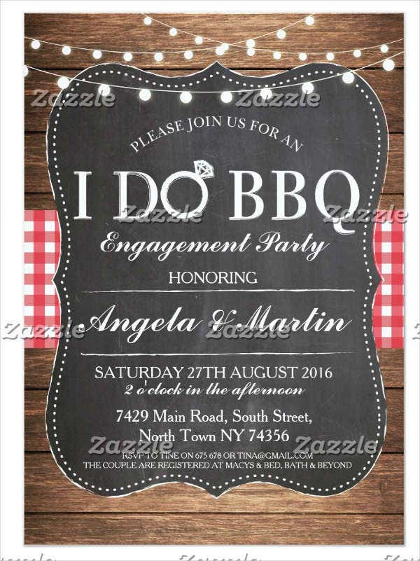 engagement party bbq invitaton