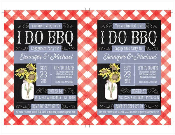diy engagement bbq invitation