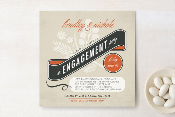 vintage engagement party invitation1
