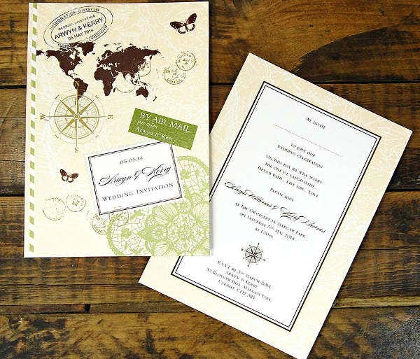 -Travel Wedding Shower Invitation