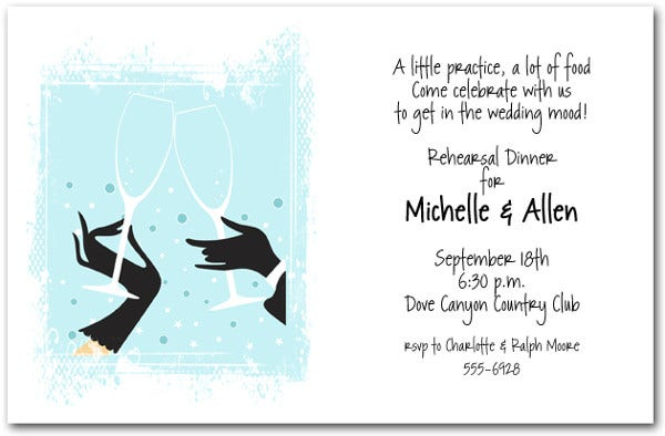 -Wedding Cocktail Party Invitation