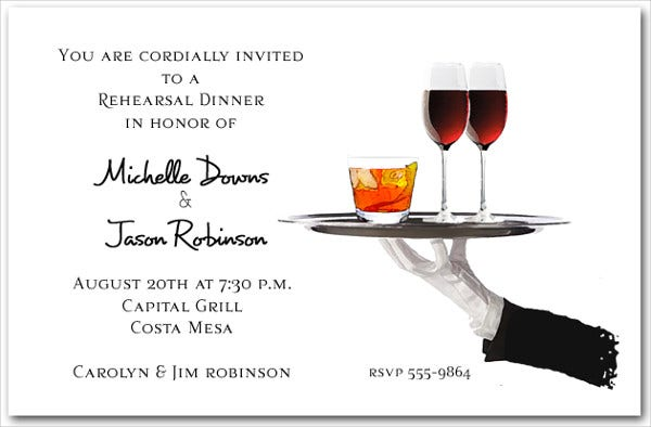 -Cocktail Wedding Reception Invitation