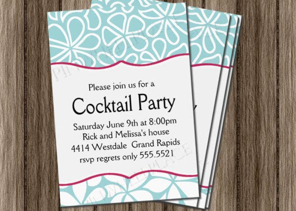 -Cocktail Wedding Shower Invitation