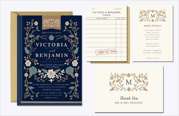 -Vintage Autumn Wedding Invitation