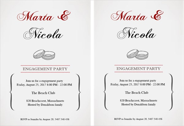 free personalized engagement party invitation