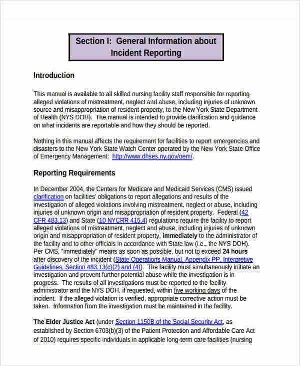 facilities management report template - 27 incident report template in pdf free premium templates