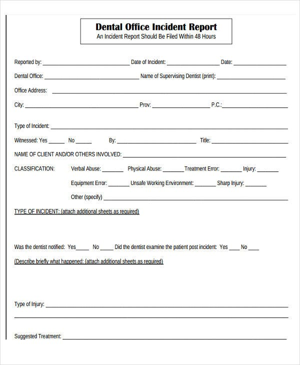 30  incident report template in pdf