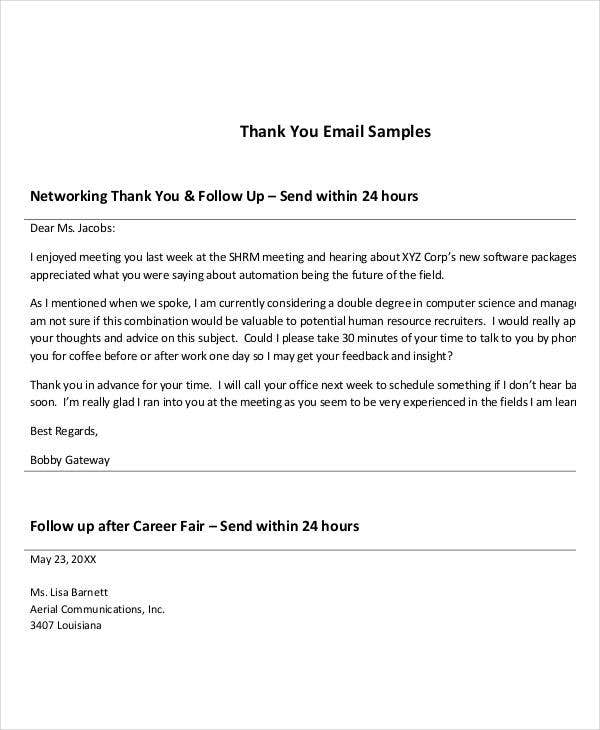 thank you for meeting email template - simple thank you letters 28 free word pdf documents
