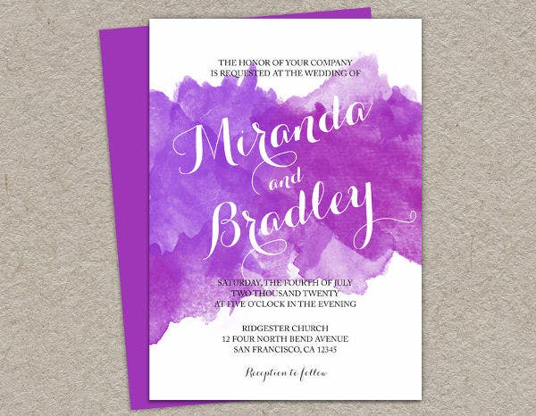 -Diy Watercolour Wedding Invitation