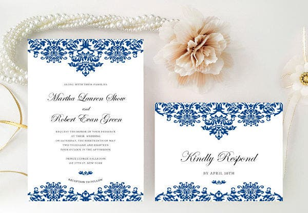 -Royal Themed Wedding Invitation