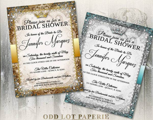 -Royal Wedding Shower Invitation