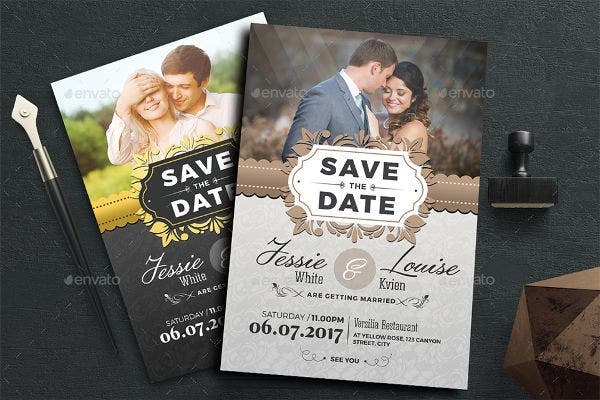 -Royal Photo Wedding Invitation