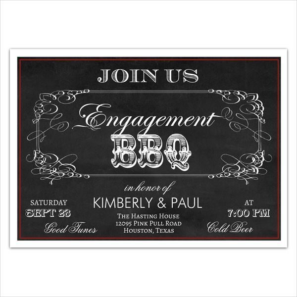 vintage-engagement-bbq-invitation