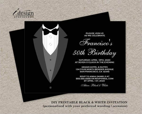 formal business birthday invitation
