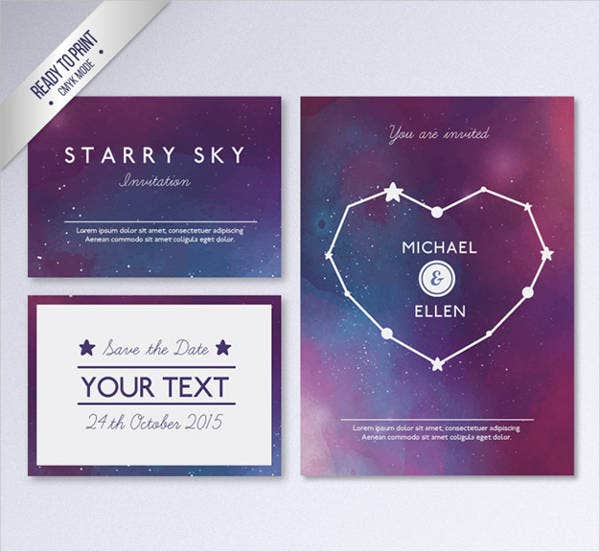modern business wedding invitation