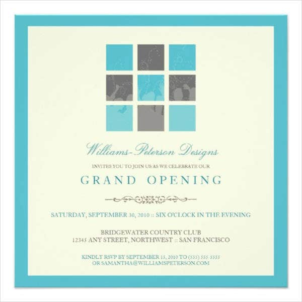 modern business grand opening invitation