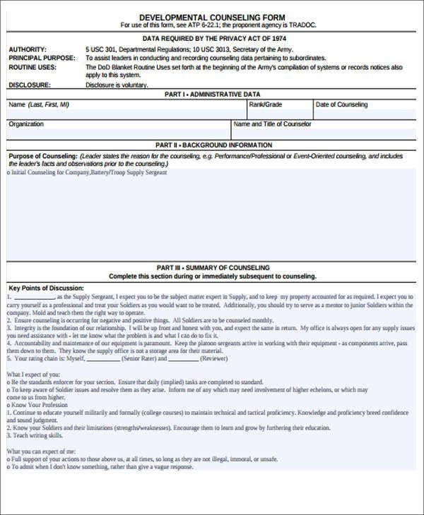 Army-Initial-Counseling-Form Quarterly Counseling Form Army Example on military bearing, negligent discharge, amso initial, monthly performance, nco quarterly, for legal reasons, positive performance, apft failure, soldier monthly, ucmj flag, platoon leader initial, platoon sergeant initial,