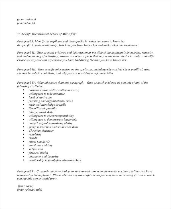 31 Sample Reference Letter Templates – Sample Job Reference Letter
