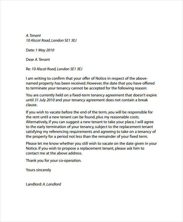 commercial landlord reference letter