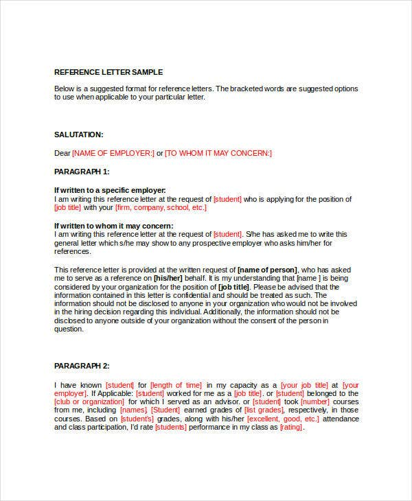 Sample Employment Reference Letter Doc 31 Sample Reference Letter Templates Free Premium