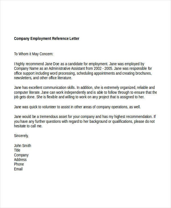 company reference letter doc1