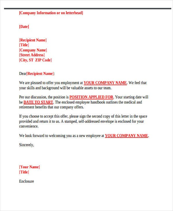 company job offer letter1
