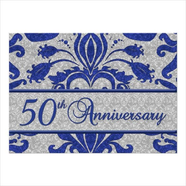 business 50th anniversary invitation