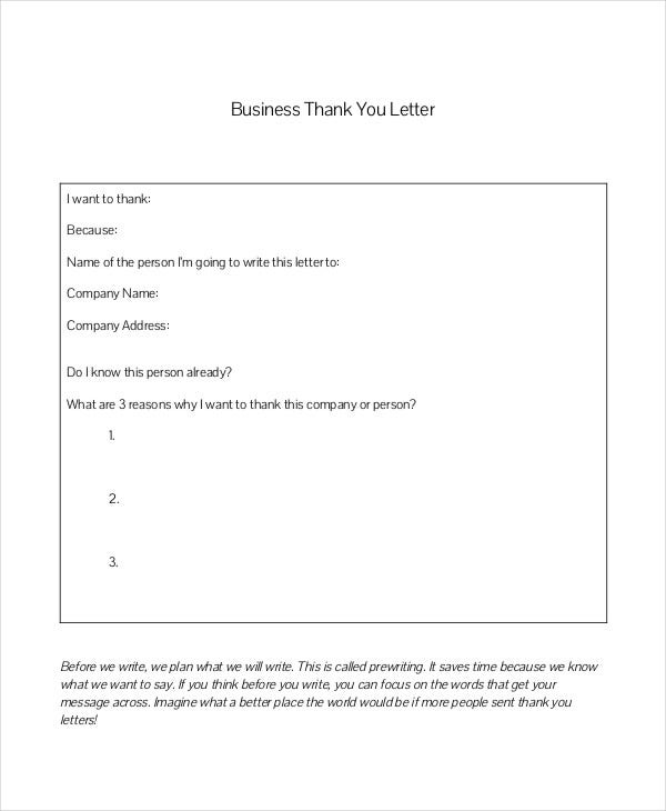 samples of business letters